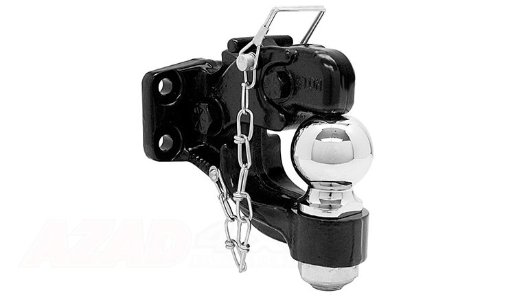 PINTLE TOW HOOK WITH CHROME BAR